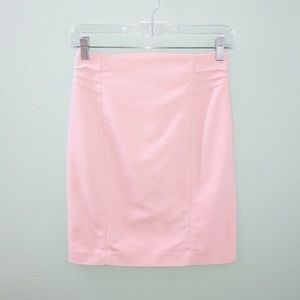 Express Baby Pink Pencil Skirt with Ruching Detail